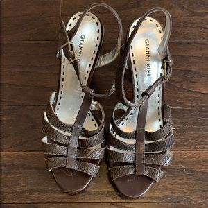 Gianni Bini dark brown sandals.